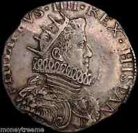 ITALY MILAN 1630 (DATED) KING PHILIP IV  NGC 50 SILVER DUCAT COIN