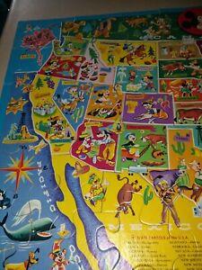 Vintage Disney United States map floor puzzle 75 pieces Craft?
