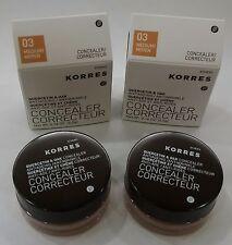 KORRES Quercetin & Oak Antiageing Concealer, 03 Medium  0.16 Oz - Pack of 2 -NIB
