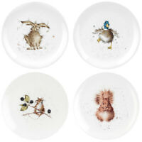 "Wrendale Set of 4 8"" Side Coupe Plates Portmeirion Royal Worcester"
