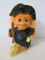 "Russ Troll Doll Witch 5""  Halloween Broom"