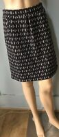 Braintree Womens Organic Cotton Stretch Mini Skirt UK Size Small Black Mix Vgc