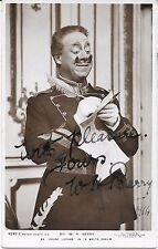 W. H. BERRY ~ HAND SIGNED AUTOGRAPHED PHOTO POSTCARD ~ COMIC ACTOR