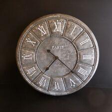 Horloge pendule électrique murale à aiguilles art déco XXe Paris 1889 France