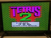 TETRIS 2 -- NES Nintendo Original Classic Game Cleaned Tested & Working