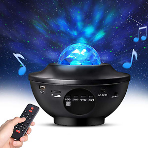 Night Light Projector with Timer & Remote Control, Monkey Home 2 in 1 Ocean Wave