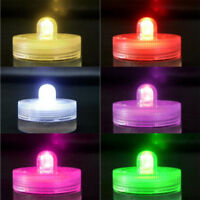 1-50pcs Colorful Waterproof Battery Operated LED Tea Lights Wedding Party Decor