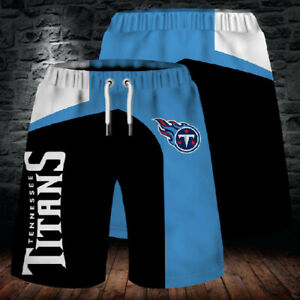 Tennessee Titans Football Beach Shorts Mens Cool Loose Summer Shorts Swim Trunks