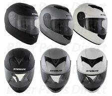 Casco de Moto Scooter Crash Cara Completa Casco Matt Negro Brillante Blanco Plata
