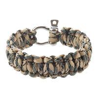 HU Bracelet 550 PARACORDE de survie Parachute Tressage Reglable Boucle Acier