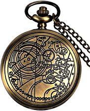Doctor Who Pocket Watc 00006000 h Dr. Who Men Quartz Chain Bronze Case Antique Full Hunter