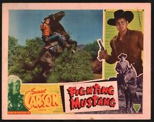 FIGHTING MUSTANG Lobby Card (Good) 1948 Al Terry Western Movie Poster 15091