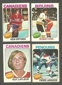 1975-76 O-PEE-CHEE OPC Hockey  lot starter  SET 368/396 CARDS BOBBY ORR RARE
