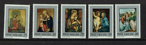 """VATICAN CITY 1971 #581 - 585 mnh """"PAINTINGS"""" A0343"""