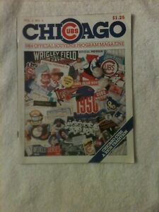 Chicago Cubs 1984 official souvenir program -