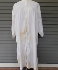 Antique Women's Linen Cotton Night Gown Night Shirt