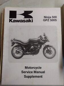 Kawasaki Ninja 500 GPZ500S USED Service Manual SUPPLEMENT 99924-1172-51