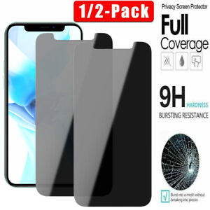For iPhone 11 Pro Max 12 Pro Full Cover Anti-Spy Privacy Glass Screen Protector