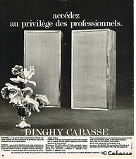 PUBLICITE ADVERTISING 054  1973  CABASSE  hi-fi  enceintes DINGHY