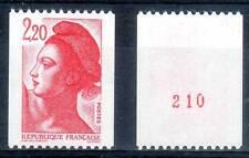 Roulette N° ROUGE. LIBERTÉ 2,20F rouge. ref. 2379a. cote 3,00€