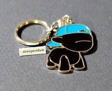 MunnyWorld Enamel Keychains Kidrobot Black Raffy Blue Hat