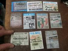 10 calamite 5x7cm  napoli titoli giornali scudetto coppa italia e uefa maradona