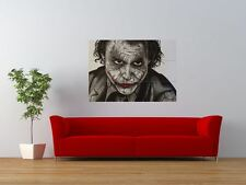 JOKER DARK KNIGHT HEATH LEDGER BATMAN gigante art print poster pannello nor0653