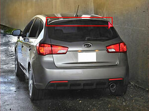 OEM Rear Spoiler UD Clear White PAINTED For 11 13 Kia Forte 5d