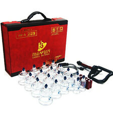 HANSOL CUPPING SET 19 CUPS for Slimming, Vacuum massage and Acupunctur /Ext Tube