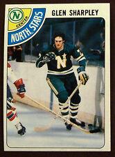 1978-79 Topps Hockey GLEN SHARPLEY NORTH STARS  LOT OF 2 NM-MT+