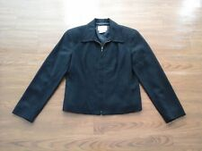 Talbots,black 100% wool full front zip blazer/jacket,womens petite 6P