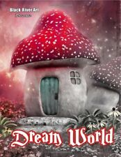 Dream World Grayscale Greyscale Adult Colouring Book Fantasy Magical Enchanted