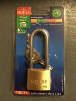 Henry Squire LP9/2.5 –  Shed Lock Padlock (long shackle)