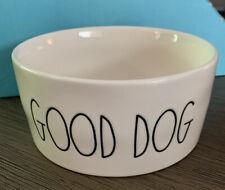 "RAE DUNN Dog Pet ""GOOD DOG"" Food Water Bowl Small"