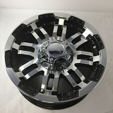 "15"" Vision Warrior 375 Trailer Gloss Black Machined Face Wheel 15x6 5x5 0mm Rim"