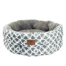 """New ListingTempCore Small Dog & Cat Bed 24 x 9"""", Gray Deluxe Pattern, Ultra-Soft Pet Bed"""