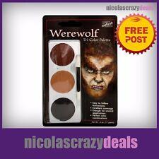 Mehron Stage Professional Tri-Colour Palette Face Paint Make Up Werewolf