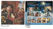 GB 2010 CHRISTMAS MINIATURE SHEET, BUCKINGHAM COVERS OFFICIAL FDC
