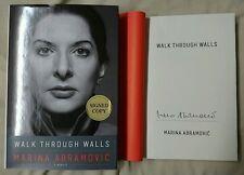 Marina Abramovic Walk Through Walls A Memoir HC/DJ 1/1 Signed Book Artist Serbia