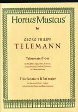 Triosonate B-Dur für Blockflöte, konzertierendes Cembalo und Basso continuo