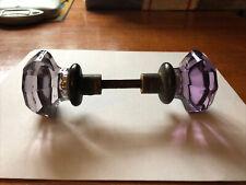 Vintage Lavender/Purple 8-Point Glass Door Knobs
