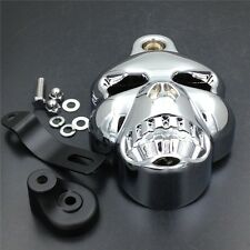 Motorcycle Chrome Skull Horn Cover for Harley Davidson Cowbell Horns (1992-2013)