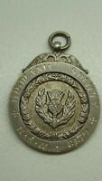 ANTIQUE STERLING SILVER STAMPED FOB MEDAL HIGHLAND SOCIETY W.KERR JEWELER SYDNEY