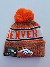 "Denver Broncos New Era NFL ""Sport Knit"" Cuffed Hat with Pom On-Field New"