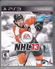 NHL 13 (Sony PlayStation 3, 2012) NEW