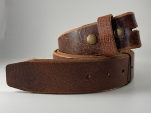 Vintage Belt Buffalo Leather, Removable Strap | Without Buckle Inactive