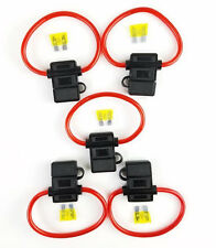 5 Pack 8 Gauge In-line ATC Fuse Holder + 5A AMP Fuse w/Cover New Car Install US