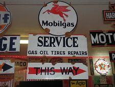 Antique style vintage porcelain look TMobil dealer service gas pump sign set