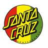 "Santa Cruz Rasta Dot Skateboard 3"" Sticker Old School Screaming Hand Classic Dot"