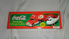 Coca-Cola 2000 Holiday Semi & Helicopter Carrier Vintage Collectible Toy